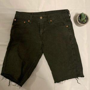 Levi's Cropped Shorts Forrest Green Men's 30